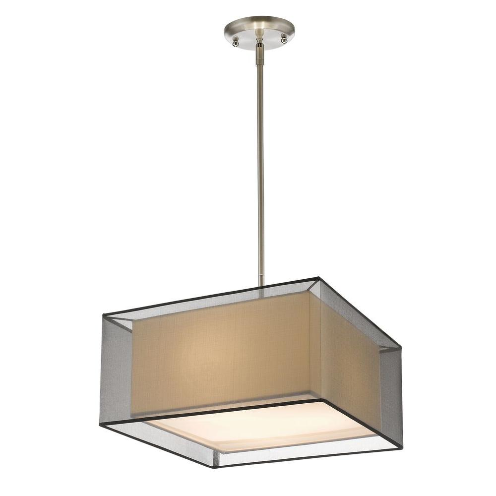 Nicolay 3-Light Brushed Nickel Pendant