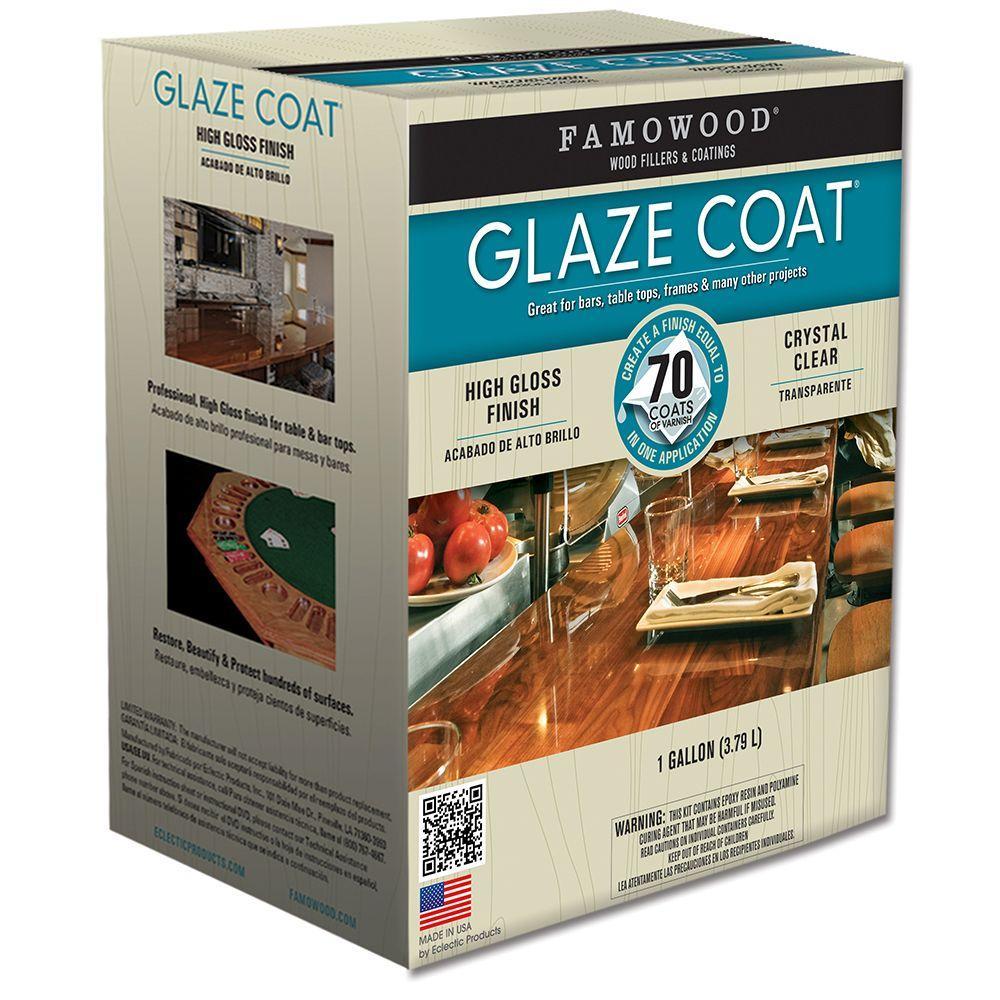 FAMOWOOD 1 Gal  Glaze Coat Clear Epoxy Kit (2-Pack)