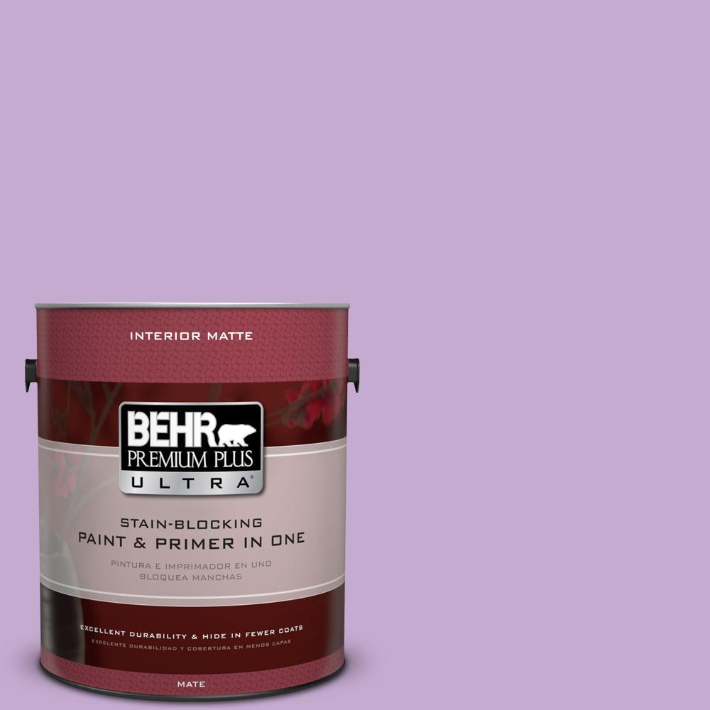 BEHR Premium Plus Ultra 1 gal. #660B-4 Pale Orchid Matte Interior Paint and Primer in One