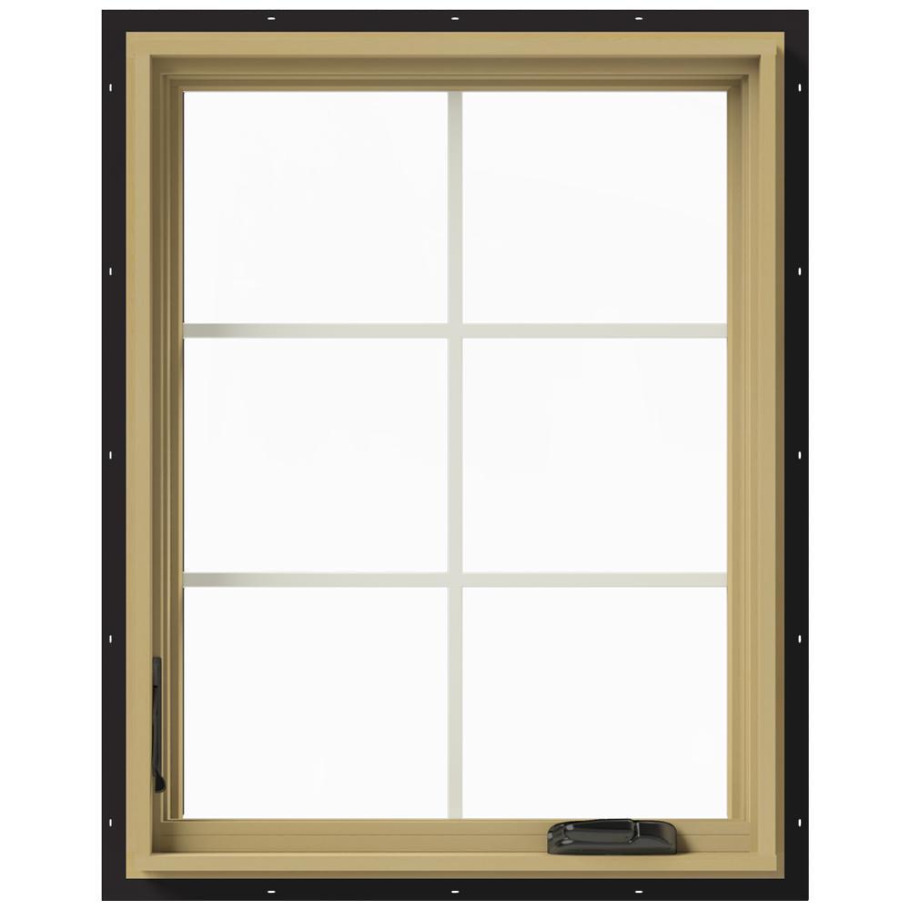 28 in. x 36 in. W-2500 Left Hand Casement Aluminum Clad Wood Window