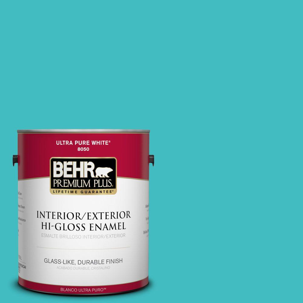 1-gal. #P460-4 Lagoon Rock Hi-Gloss Enamel Interior/Exterior Paint