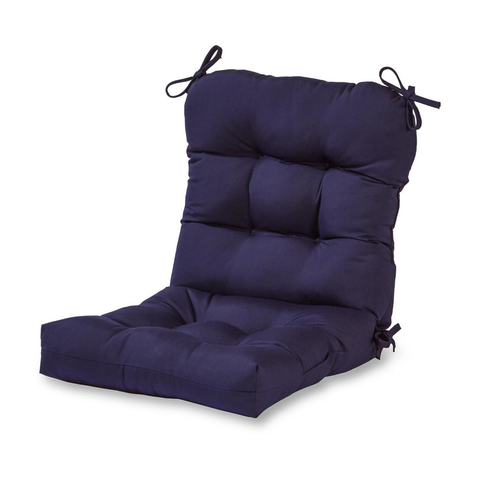 Swell Greendale Home Fashions Solid Navy Outdoor Dining Chair Cushion Inzonedesignstudio Interior Chair Design Inzonedesignstudiocom