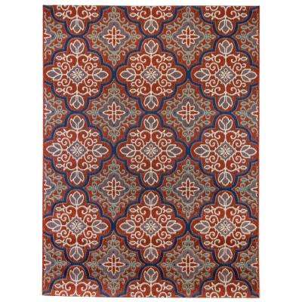 Star Moroccan Red 5 ft. 3 in. x 7 ft. Indoor/Outdoor Area Rug