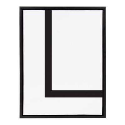 "Sylvie ""Letter L"" Framed Canvas Wall Art"