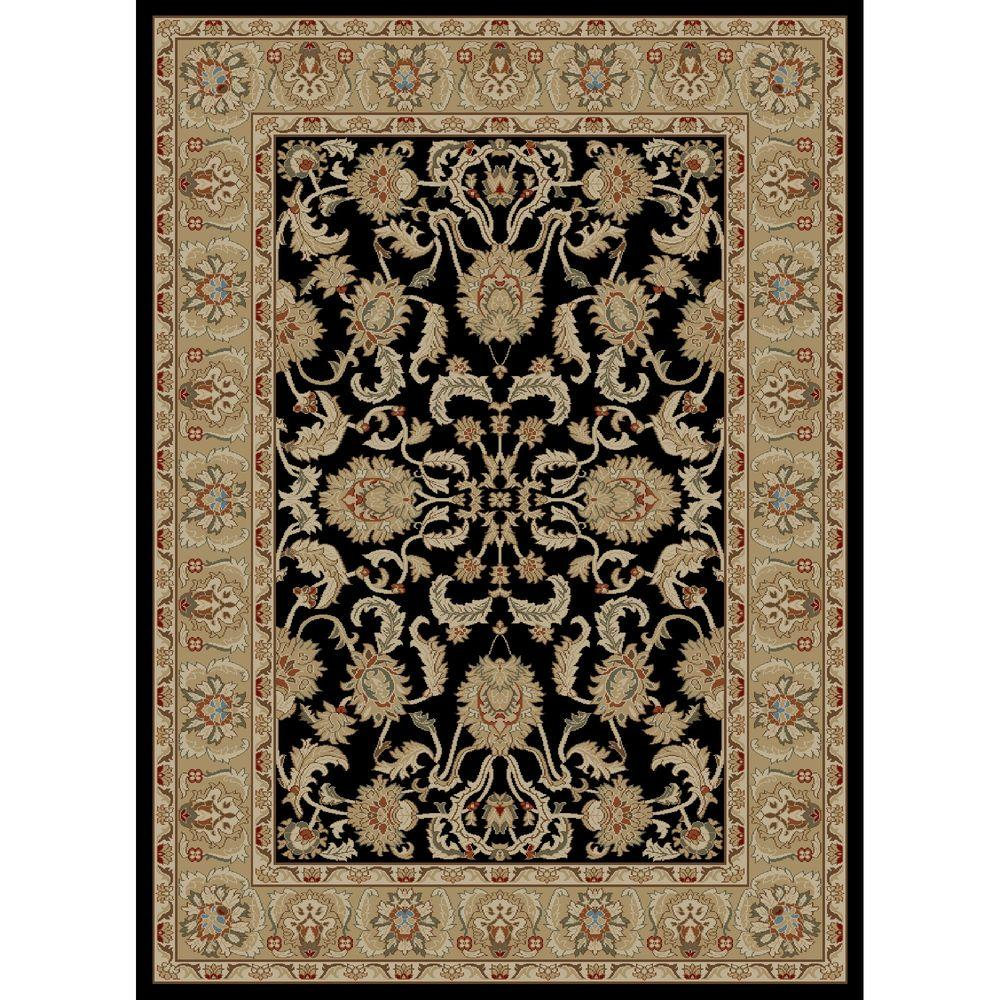 Concord Global Trading Ankara Oushak Black 5 ft. 3 in. x 7 ft. 3 in. Area Rug