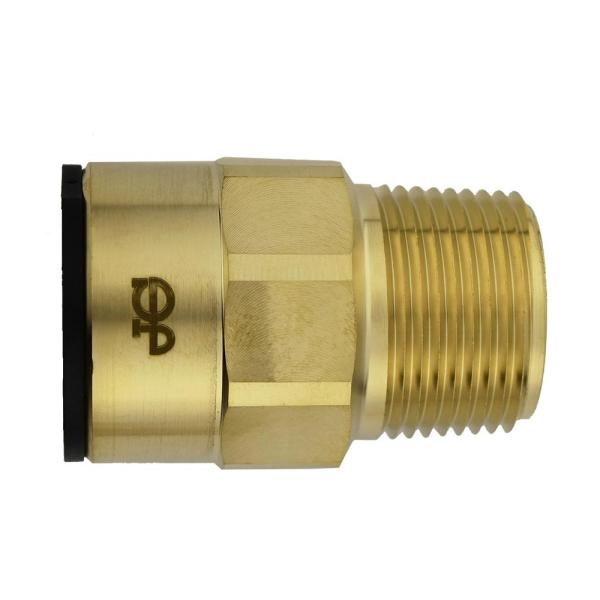 1 in. CTS x 1 in. NPT Brass ProLock Push-to-Connect Male Connector