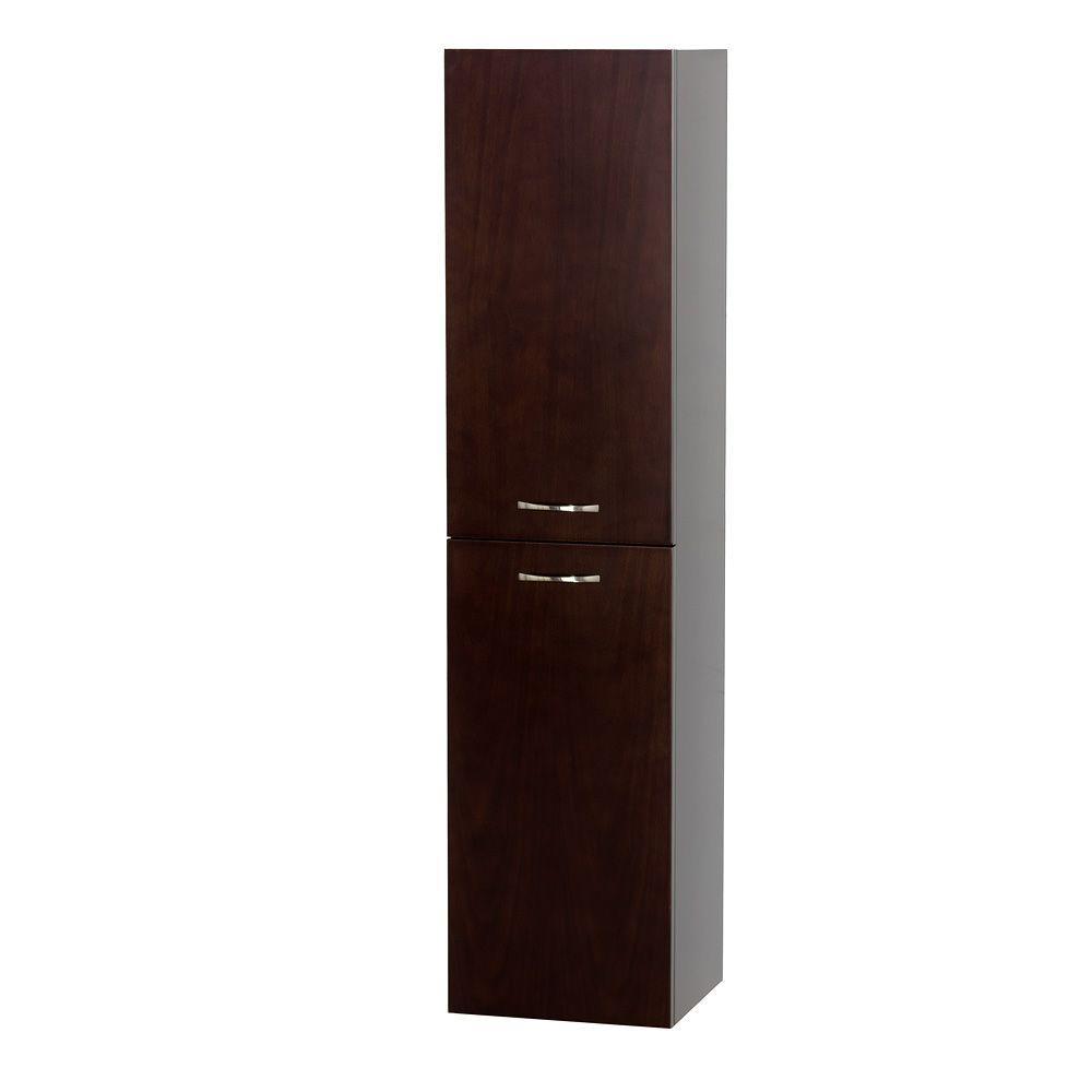 Wyndham collection accara 13 1 2 in w x 56 in h x 12 1 4 in d bathroom storage wall cabinet for Wyndham bathroom wall cabinet