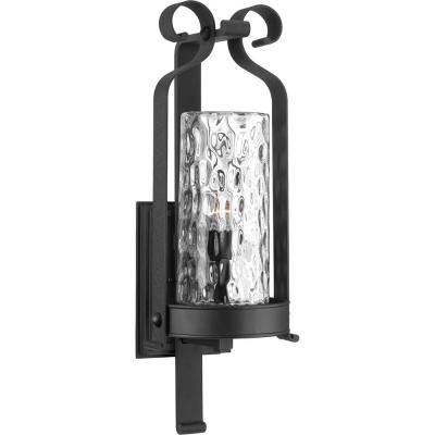 Hermosa 1-Light Black 32 in. Outdoor Wall Lantern Sconce