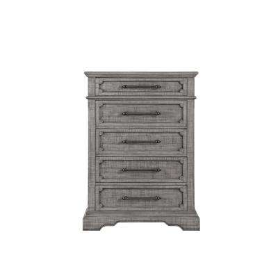 Artesia 5-Drawers Salvaged Natural Chest