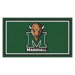 NCAA Marshall University 3 ft. x 5 ft. Ultra Plush Area Rug