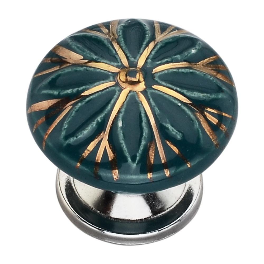 Designer 1-2/3 in. (42 mm) Sea Green Cabinet Knob