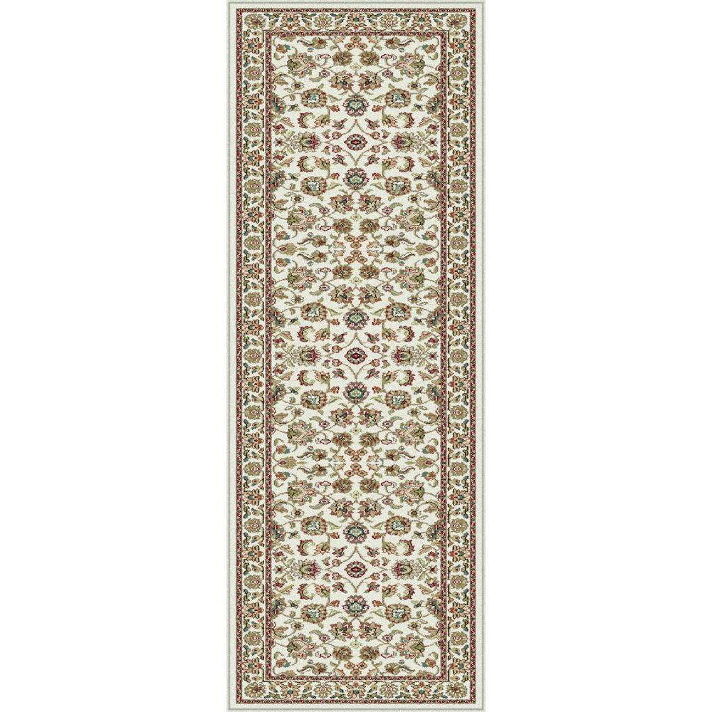 Tayse Rugs Capri Ivory 2 ft. 3 in. x 7 ft. 3 in. Traditional Runner