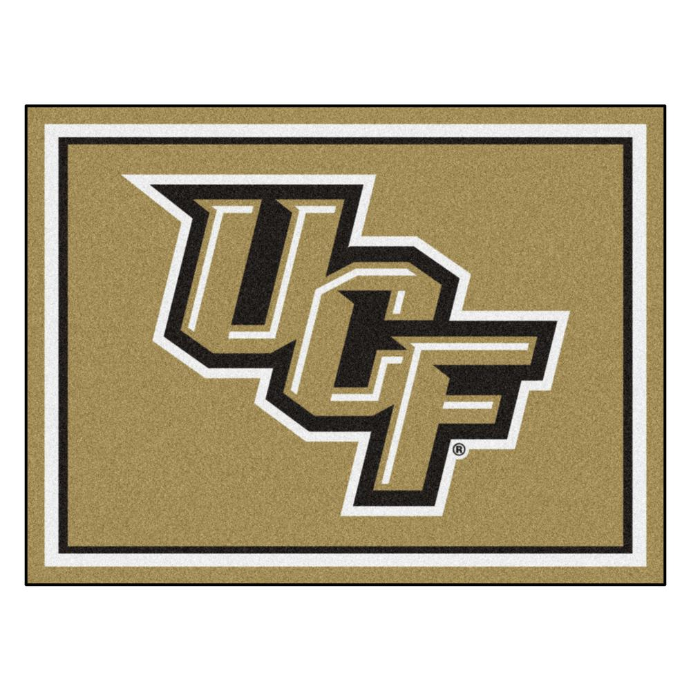 FANMATS NCAA - University of Central Florida Gold 10 ft. x 8 ft. Indoor Rectangle Area Rug