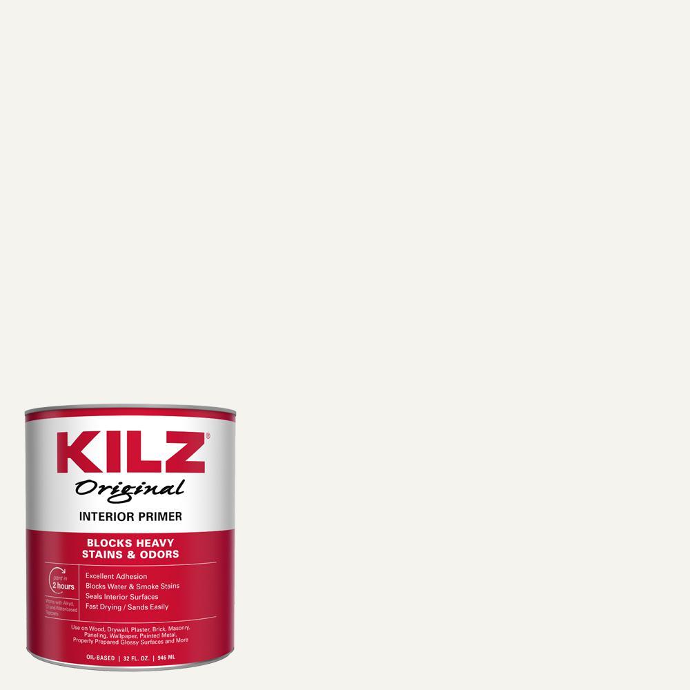 KILZ Original 1 qt. White Low-VOC Oil-Based Interior Primer, Sealer