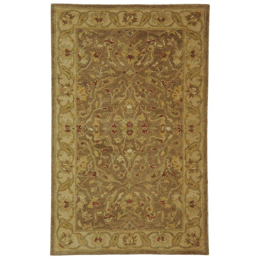 Safavieh Antiquity Brown Gold 3 Ft X 5 Area Rug