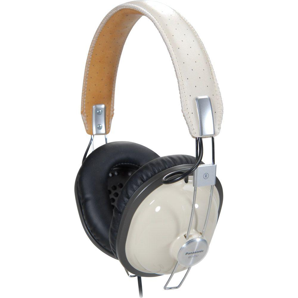 Panasonic Retro-Style Monitor Headphones Cream-DISCONTINUED