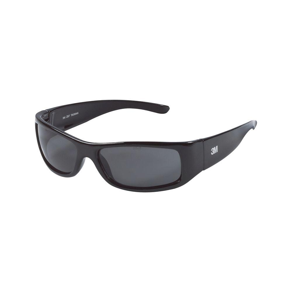 3M Classic Black Frame with Gray Lenses Safety Glasses