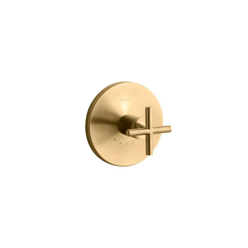 Purist 1-Handle Thermostatic Valve Trim Kit with Cross Handle in Vibrant