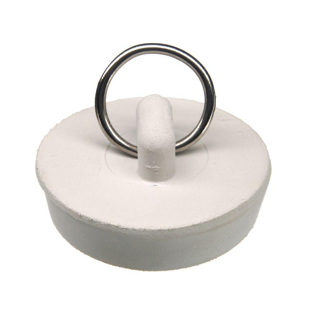 1-1/2 in. Rubber Stopper in White