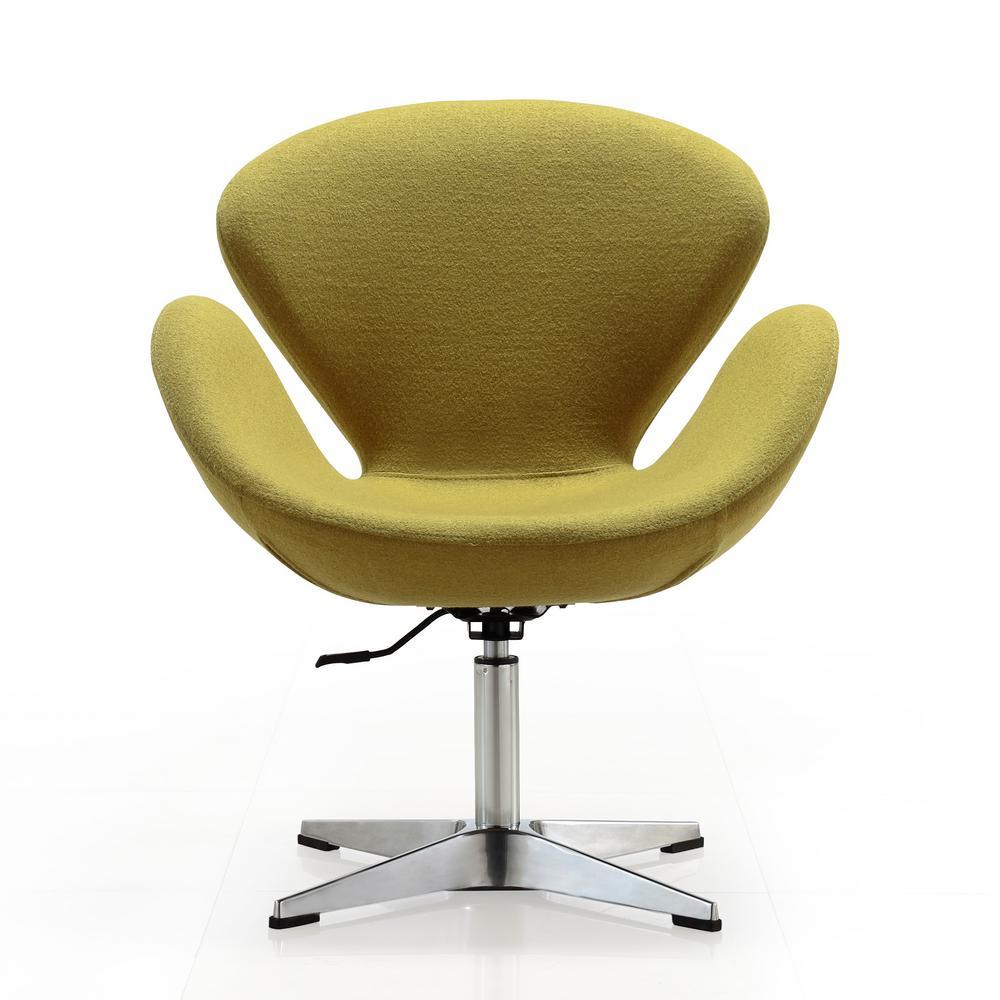 CEETS Green Wool Blend Raspberry Adjustable Swivel Chair AC038-GR