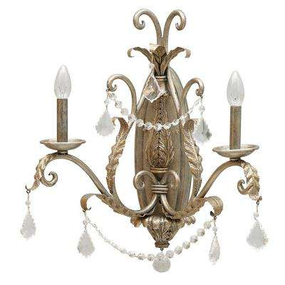 Swag Collection 2-Light Carribean Gold Wall Mount Sconce