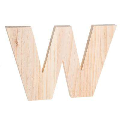 Alpha 8 in. Letter W in Unfinished Wood