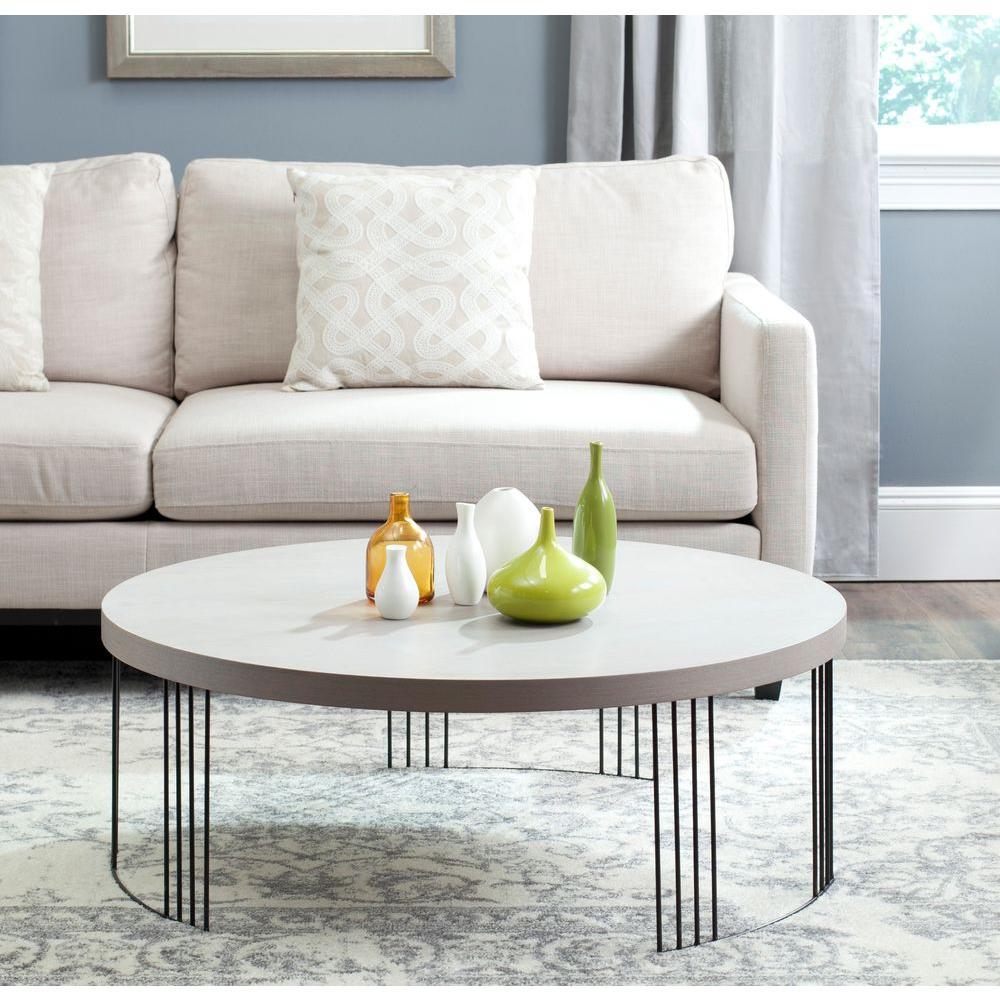 Safavieh Keelin Grey Coffee Table Fox4200b The Home Depot