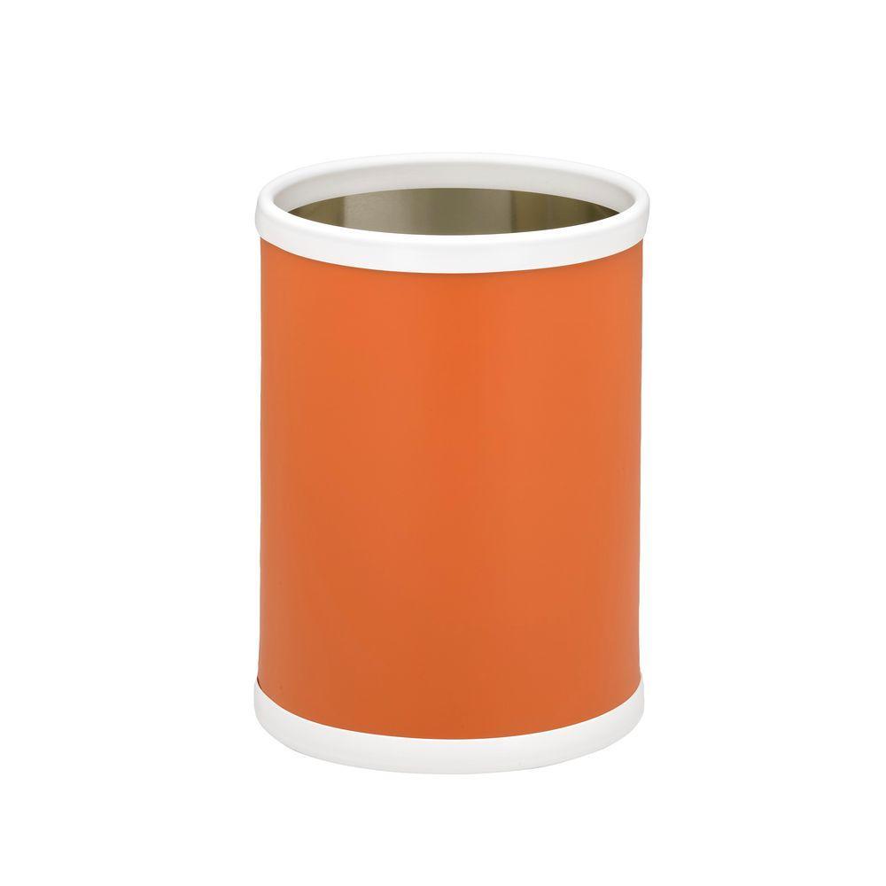 Bartenders Choice Fun Colors Spice Orange 8 Qt. Round Waste Basket