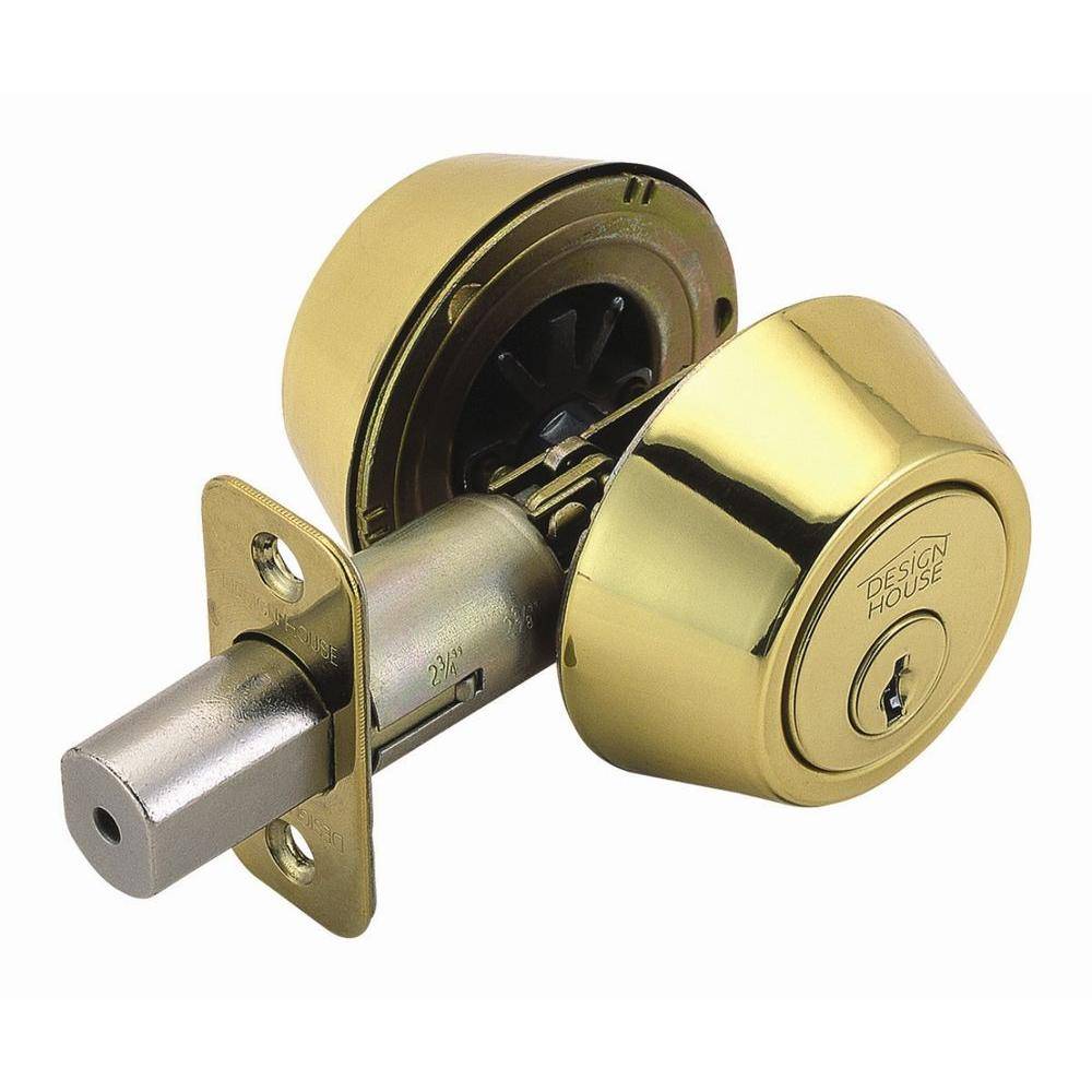 Kwikset 665 Series Polished Brass Double Cylinder Deadbolt