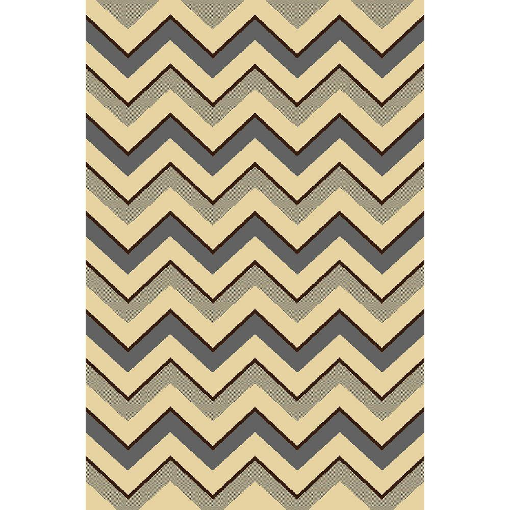 Home Dynamix Royalty Gray/Ivory 7 ft. 8 in. x 10 ft. 4 in. Indoor Area Rug