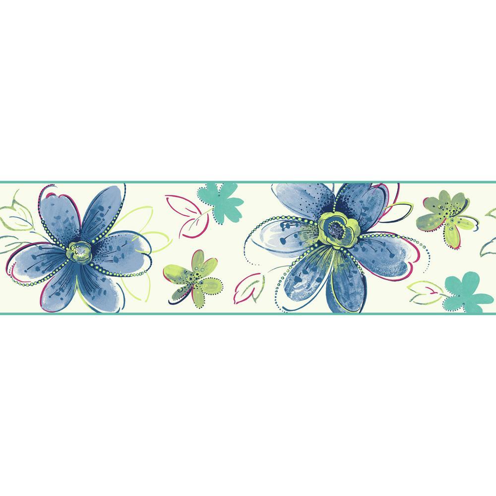 Brothers and Sisters V Bohemian Floral Wallpaper Border