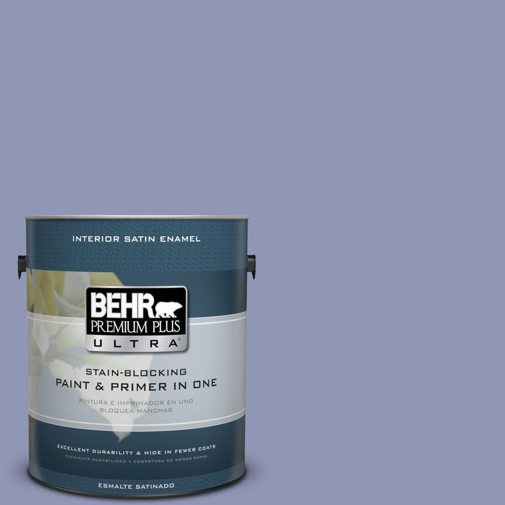 BEHR Premium Plus Ultra 1-gal. #S540-4 Vintage Ribbon Satin Enamel Interior Paint