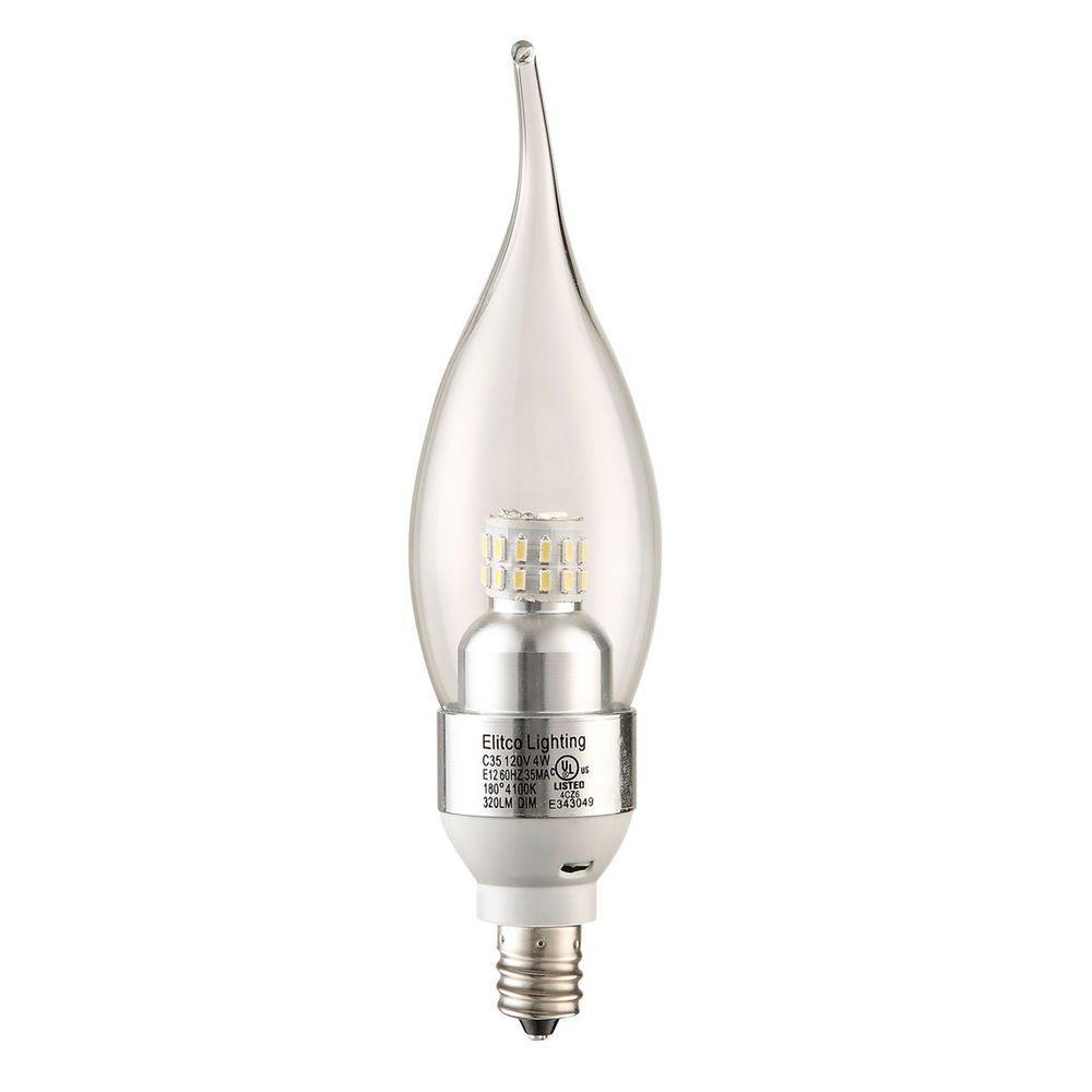 Elegant Lighting 35W Equivalent Soft White E12 Dimmable LED Light Bulb
