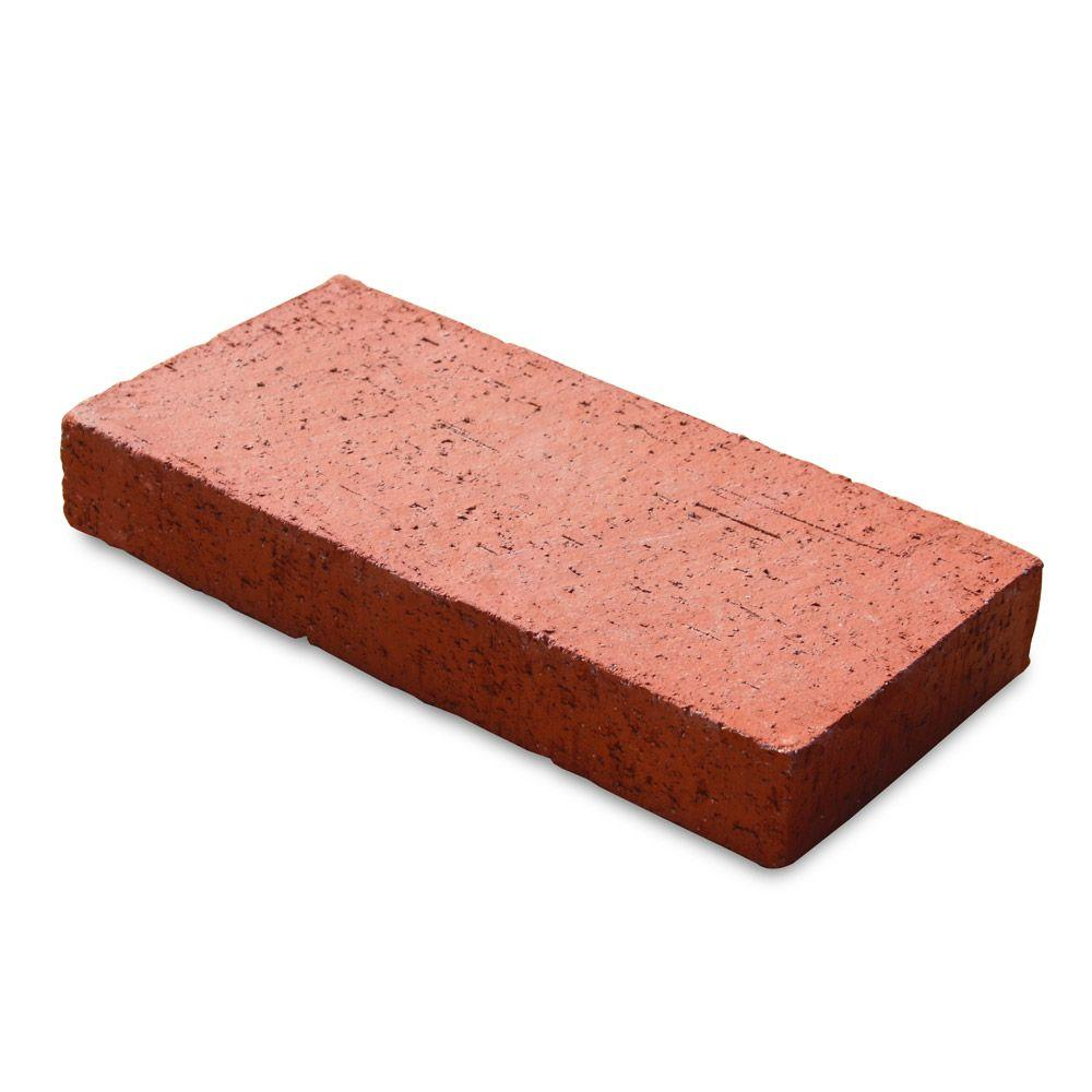 null Traveler 11.5 in. x 5.5 in. x 1.63 in. Red Clay Paver