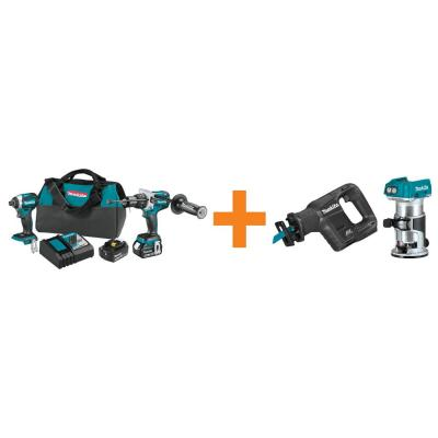18V LXT Brushless 2-Piece Combo Kit with Bonus 18V LXT Sub-compact Brushless Recipro Saw and 18V LXT Brushless Router