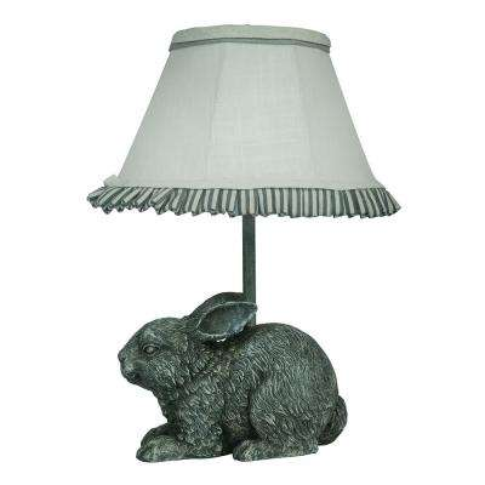 13 in. Gray Novelty Lamp