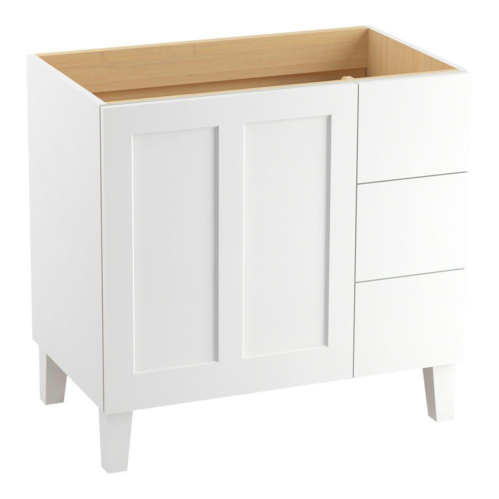 Poplin 36 in. W Vanity Cabinet in Linen White