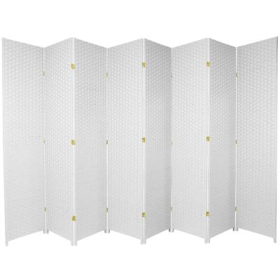 7 ft. White 8-Panel Room Divider