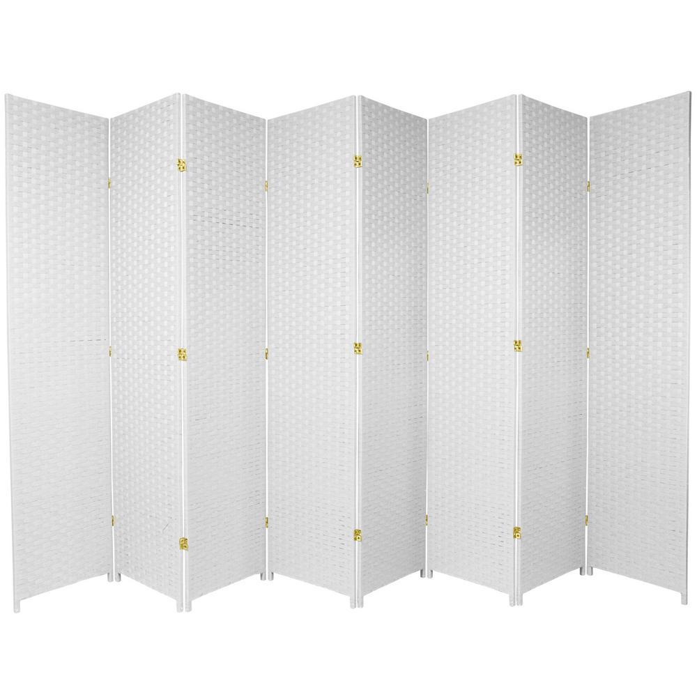 7 Ft White 8 Panel Room Divider Ss7fiber Wht 8p The