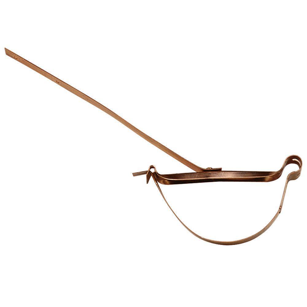 6 in. Half Round Copper Rival Strap Hanger