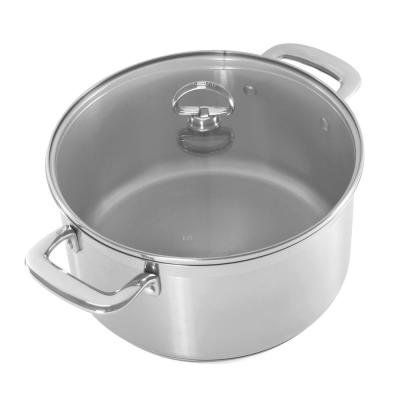 Induction 21 Steel 6 Qt. Casserole with Glass Lid in Stainless Steel