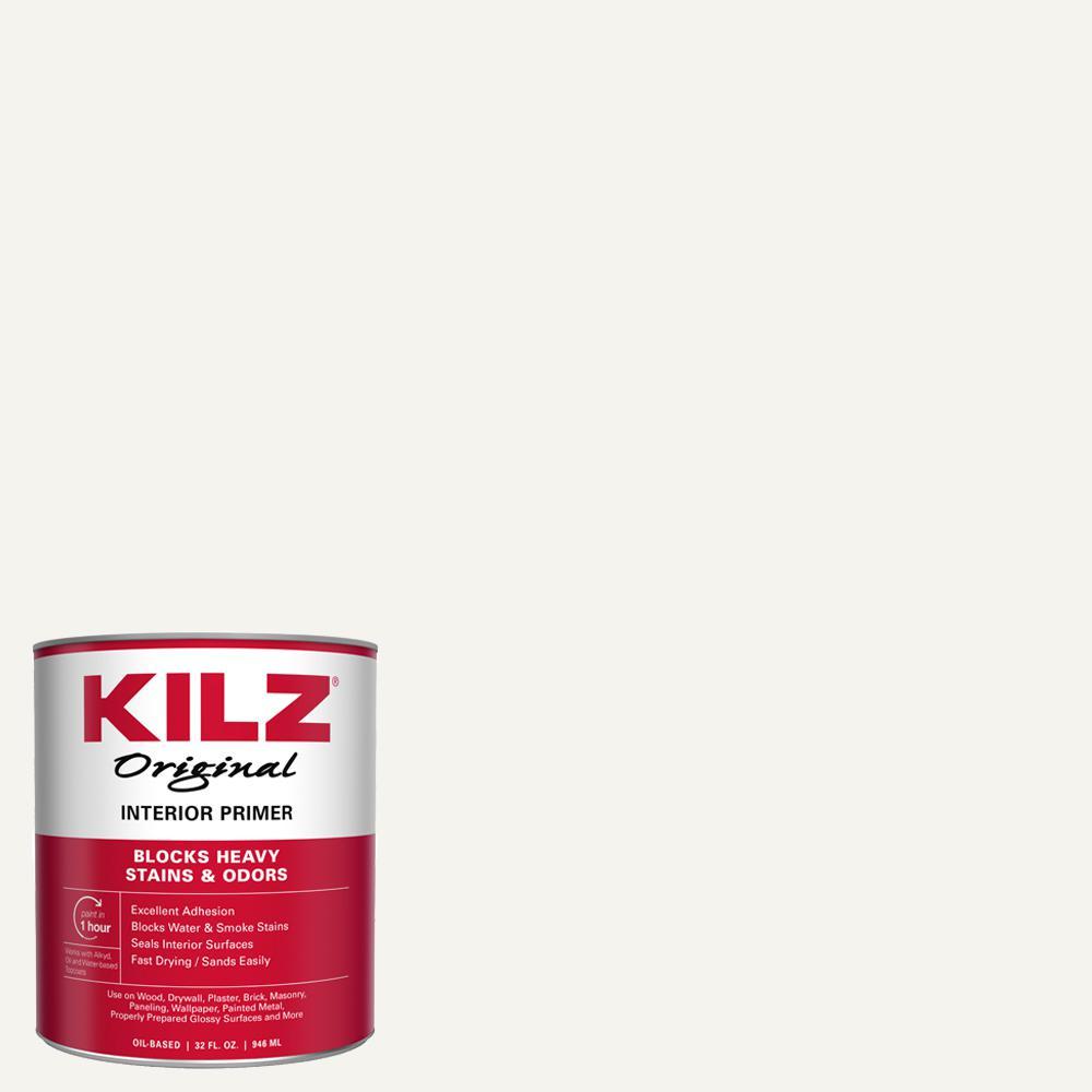KILZ Original 1 qt. White Oil-Based Interior Primer, Sealer, and Stain Blocker