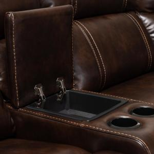 Remarkable Baxton Studio Dacio Brown Faux Leather Sectional 150 9117 Hd Alphanode Cool Chair Designs And Ideas Alphanodeonline