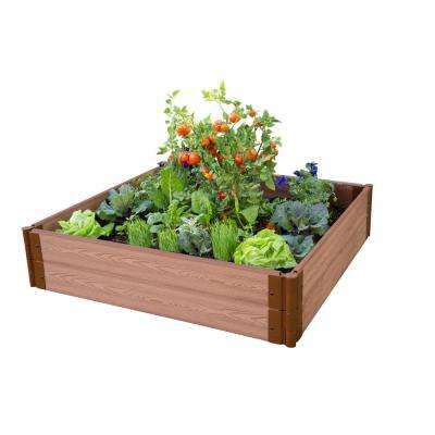 One Inch Series 4 ft. x 4 ft. x 11 in. Classic Sienna Composite Raised Garden Bed Kit