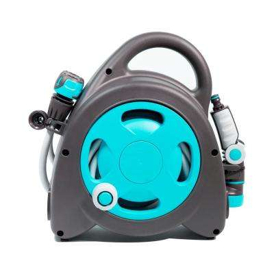Aquabag 1 in. x 54 ft. Blue Maxi Portable Hose and Reel