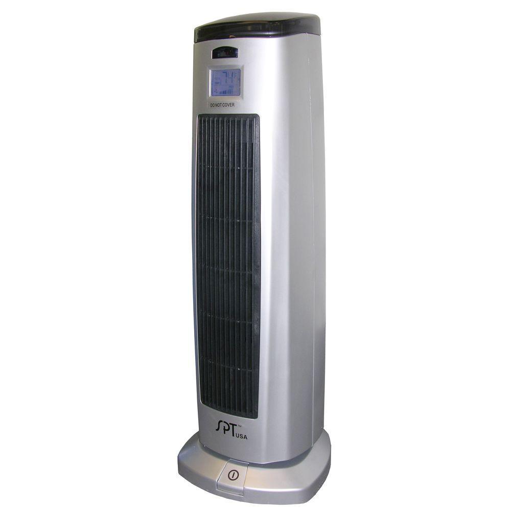 23.8 in. 1500 - Watt Tower Ceramic Heater with Ionizer