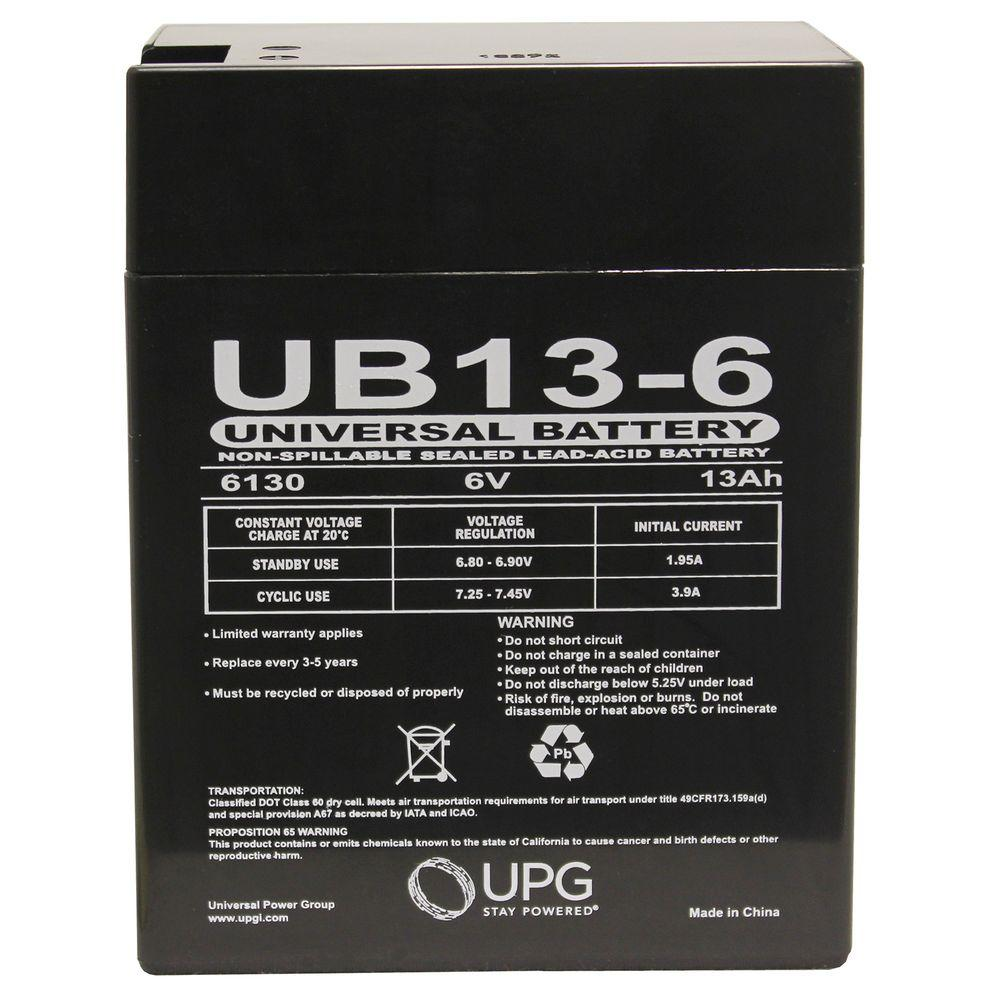 UPG SLA 6-Volt 0.187 in. Terminal Battery