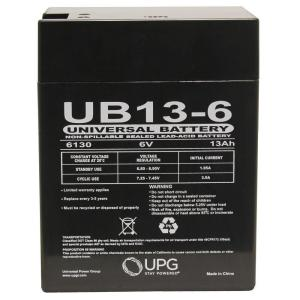 ENPX-50 6 Volt 12 AmpH SLA Replacement Battery with F2 Terminal