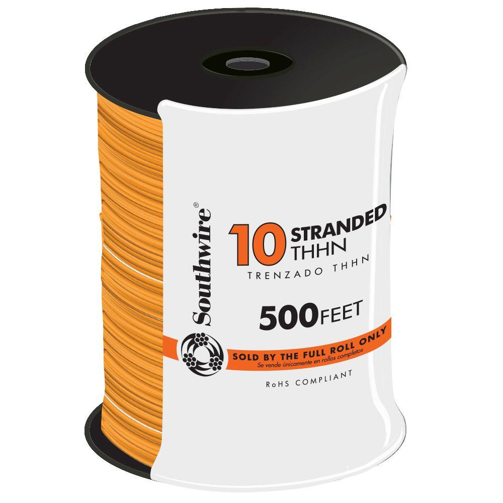 500 ft. 10 Orange Stranded CU THHN Wire