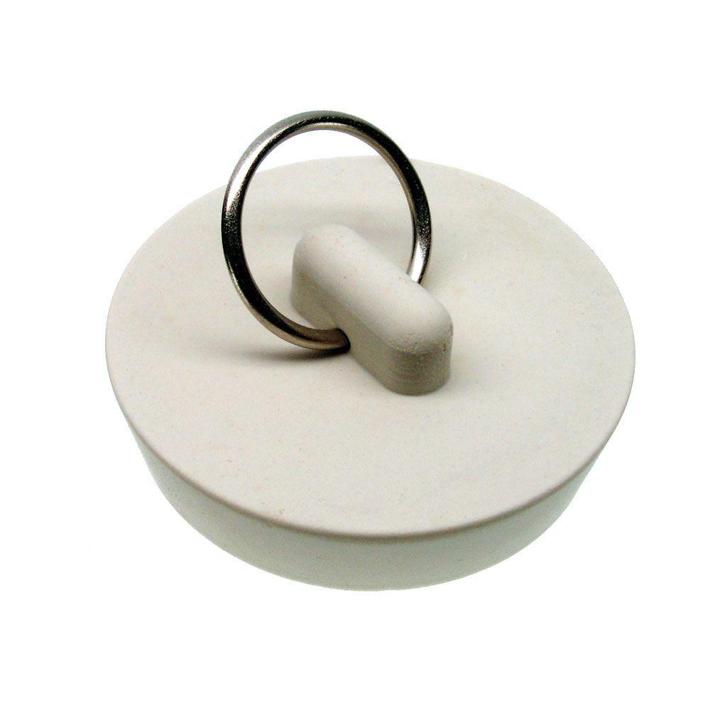 DANCO 1-5/8 in. Rubber Drain Stopper in White